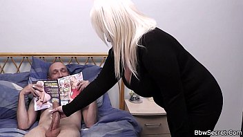 buxomy silver-blonde and hubby caught cuckold