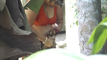 neighbour cougar aunt-in-law bathing