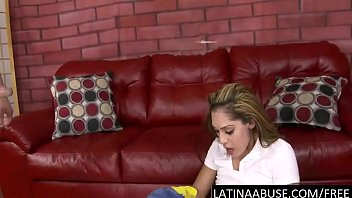latina maid face nailed to vomit