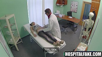 wondrous dark haired patient gets fingerblasted and deep-throats.