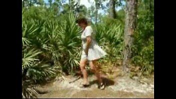Pervert mature streep tease in forest. Amateur older