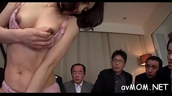 Glamorous asian babe licking cock