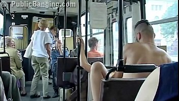 extreme public lovemaking in a city bus with.