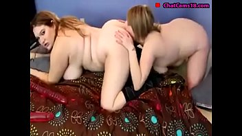 two plumper s slurping and grinding with a.