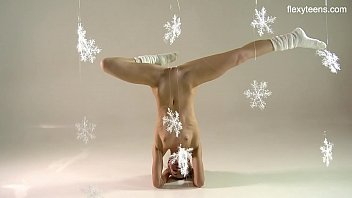 Christmas themed gymnastics by sexy ass Svetik