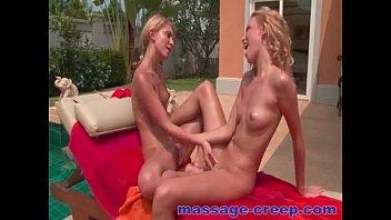 Sexy young blonde masturbate Lesbian